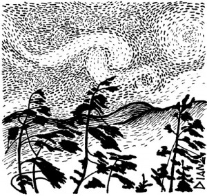 The Wind and the Stars, Illustration by Diane Wood